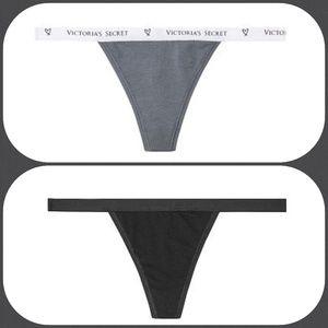 8 VICTORIA SECRET Stretch Cotton V-String Panties